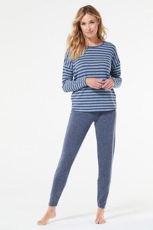 Stripe Top Loungewear Set