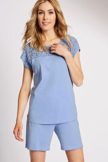 Lace Yoke Pyjama Top