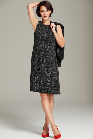 Spot Fit and Flare Dress