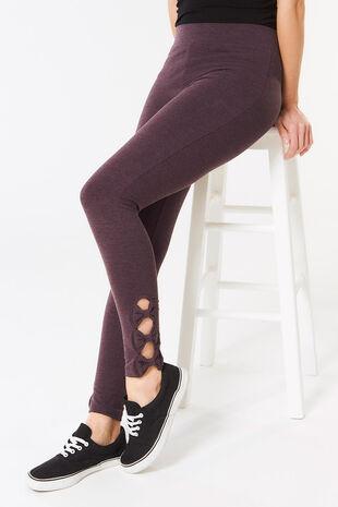 Marl Bow Hem Legging