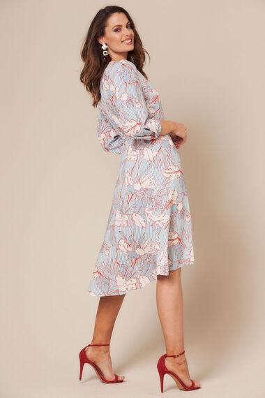 Grace By Eda Floral Wrap Dress