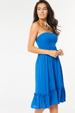 Plain Blue Beach Dress