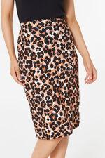 Animal Print Tube Skirt