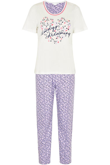 Always Dreaming Slogan Pyjama Set