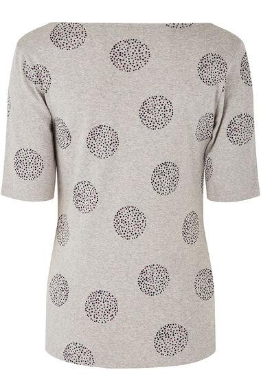 Half Sleeve Spot Print T-Shirt
