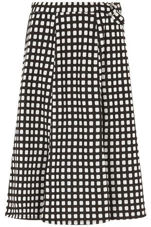 Textured D-Ring Midi Skirt