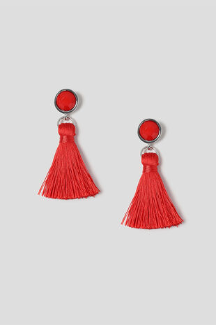 Muse Facet Bead & Tassel Drop Earrings