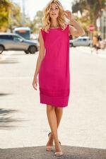 Linen Blend Shift Dress