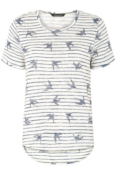 Bird & Stripe Printed Snit Sweat