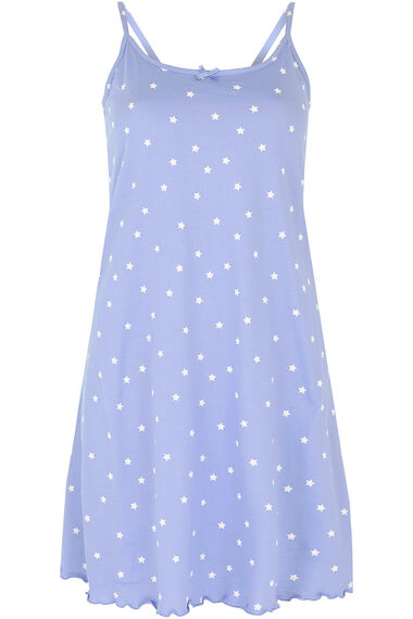 Blue Star Print Chemise