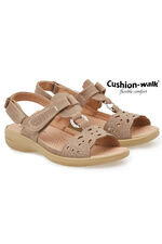 Cushion Walk Touch Fasten Sling Back Sandal with Cut Out