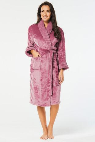 Mink Shimmer Fleece Robe