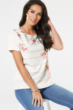 Placement Floral Texture Top