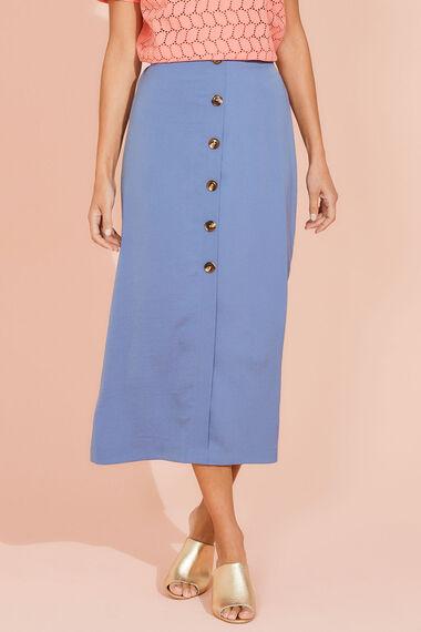 Lightweight Button Maxi Skirt