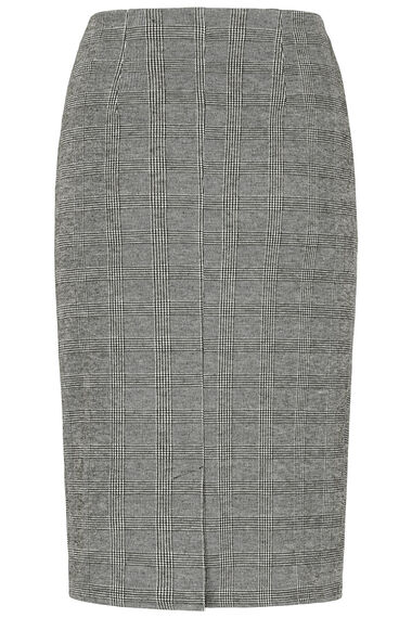 Prince of Wales Check Ponte Pencil Skirt
