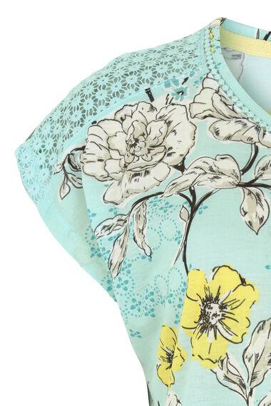 Tile Floral Ball Lace T-Shirt