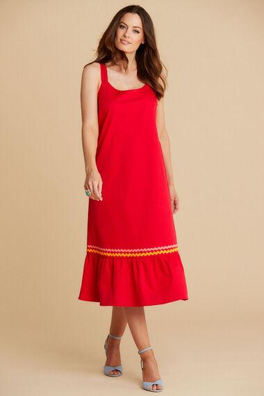 Salvari Double Strap Ruffle Hem Dress