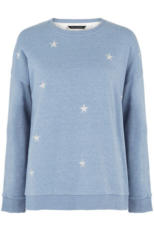 Star Embroidered Sweat
