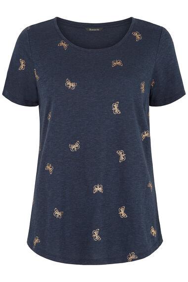Foil Butterfly Print T-Shirt