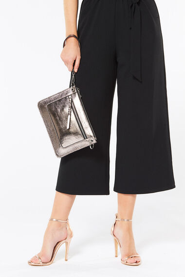 Metallic Wrist Clutch Bag