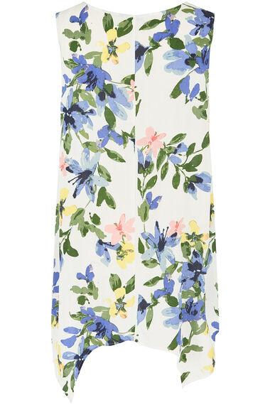 Floral Print Hanky Hem Top