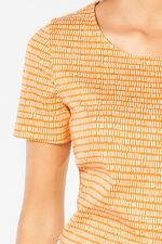 Scoop Neck Dash Print T-shirt