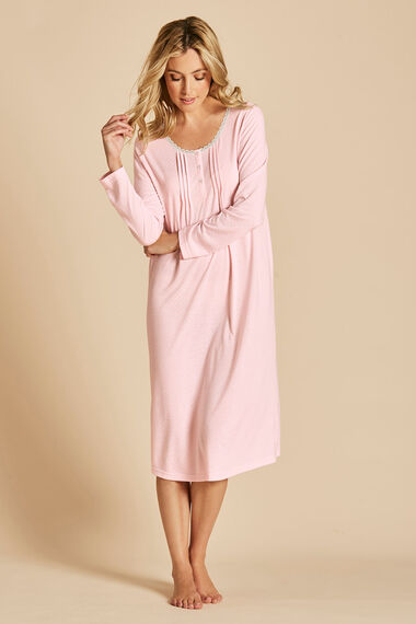 Long Sleeve Spot Nightdress