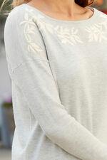 Embroidered Neckline Jumper