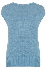 Tape Yarn Short Sleeved Jumper