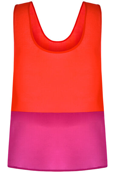 Colour Block Cami Vest