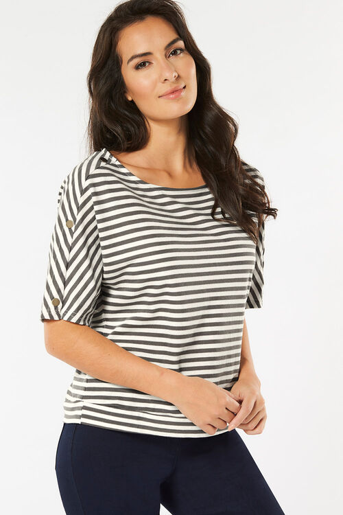 Stella Morgan Stripe Top