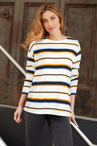 Multi Stripe Print Sweat