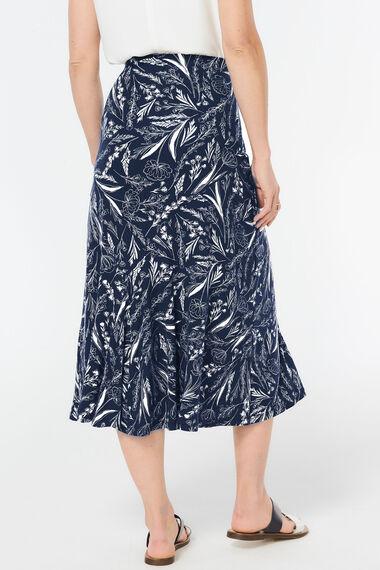Sketch Floral Maxi Skirt