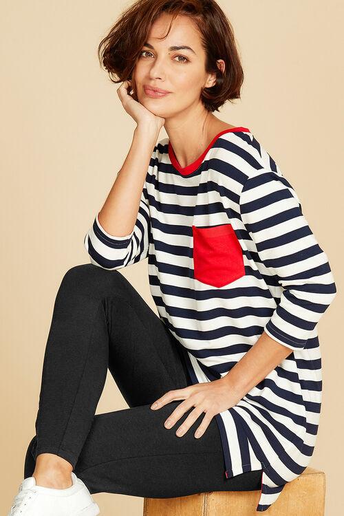 Stripe Tunic With Pocket
