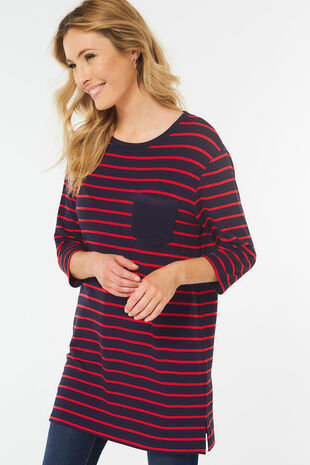 Stripe Tunic With Pocket