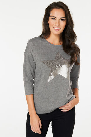 Sequin Star Sweat