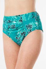 Leaf Print High Waist Bikini Brief