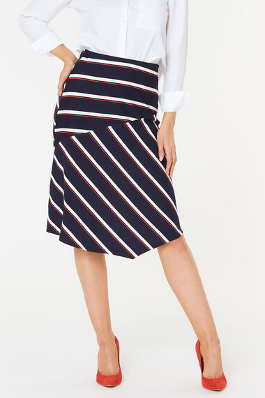 Stripe Jersey Skirt
