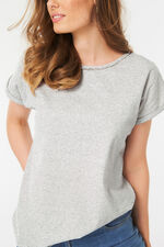 Diamante Trim Stripe T-Shirt