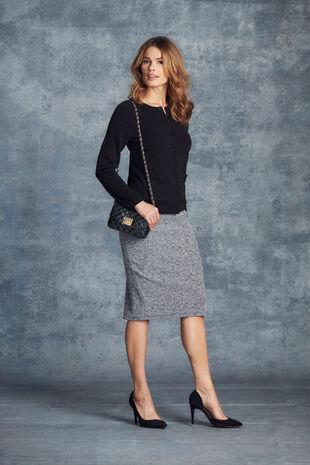 Stretch Knit Pencil Skirt