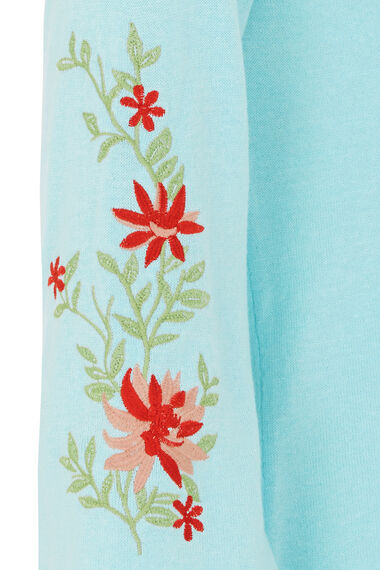 Embroidered Sleeve Jumper