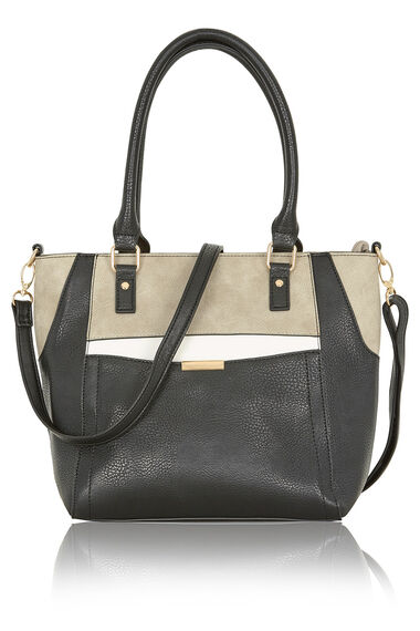 3 Tone Tote Bag with Strap