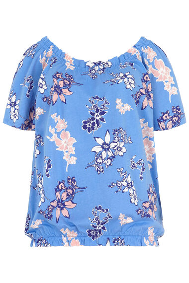 Floral Printed Gypsy Top