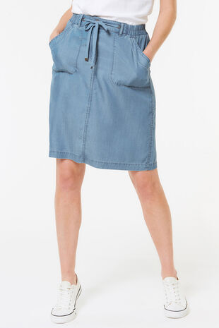 Tencel Short Skirt