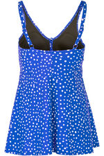 Spot Lace Up Swimdress
