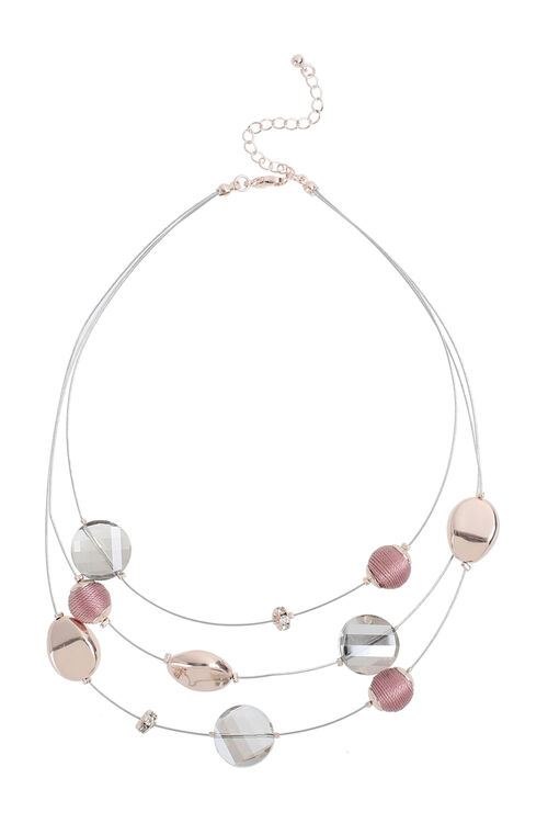 Muse Beaded Multi Row Necklace