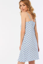 Blue Butterfly Print Chemise
