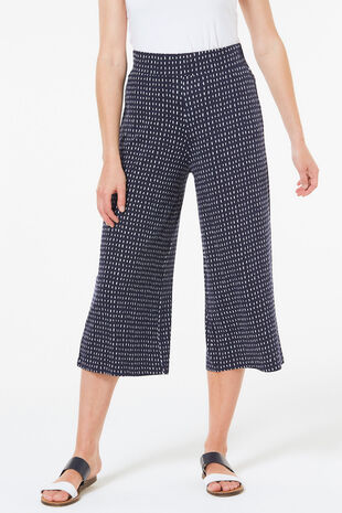 Geometric Print Jersey Culotte