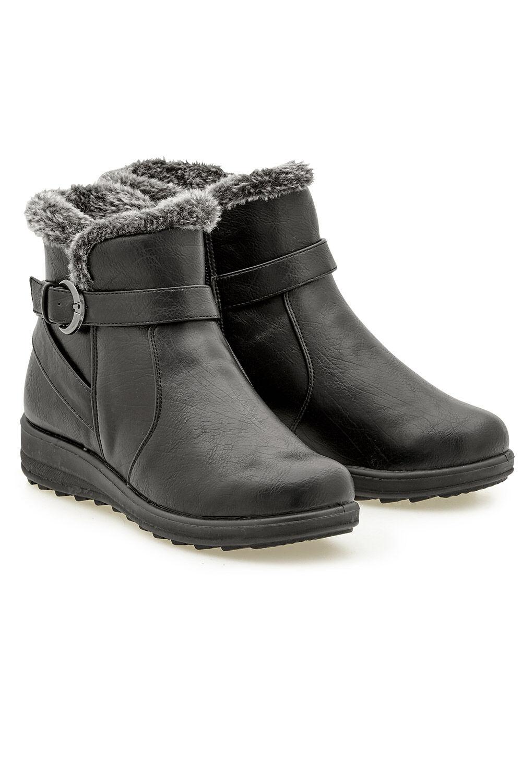 Buy Faux Fur Cushion Walk Ankle Boot
