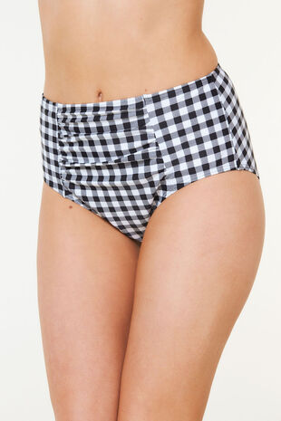 Gingham High Waist Brief